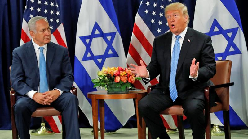 Donald Trump met Benjamin Netanyahu on the sidelines of the UN General Assembly on Wednesday [Carlos Barria/Reuters]