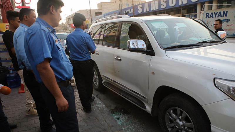 Soad al-Ali and her husband were shot at as they were getting in their car [Nabil al-Jurani/AP]