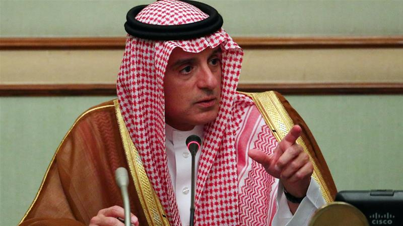 "Jubair says that the leadership of the kingdom of Saudi Arabia ""is a red line"" [Reuters]"