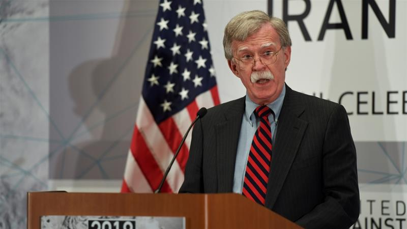 The warning from Bolton came after the US president and his Iranian counterpart clashed at the United Nations General Assembly [Darren Ornitz/Reuters]