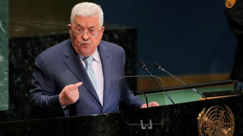 Abbas reaffirmed occupied East Jerusalem is the capital of the future Palestinian state [Caitlin Ochs/Reuters]