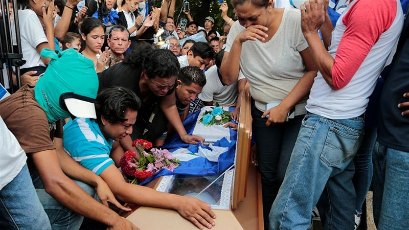Who is responsible for the violence in Nicaragua?