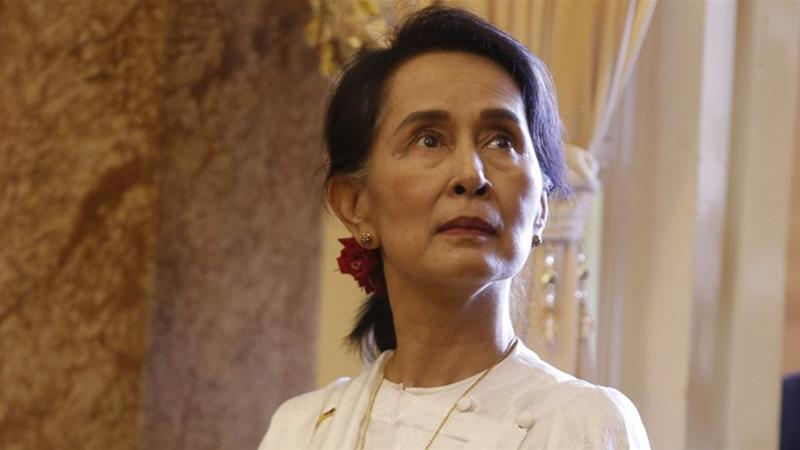 Aung San Suu Kyi's reputation has been badly tarnished by her refusal to call out atrocities by Myanmar's military [AFP]