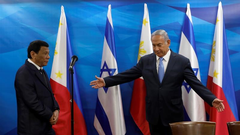 Netanyahu welcomes controversial Philippine president Rodrigo Duterte