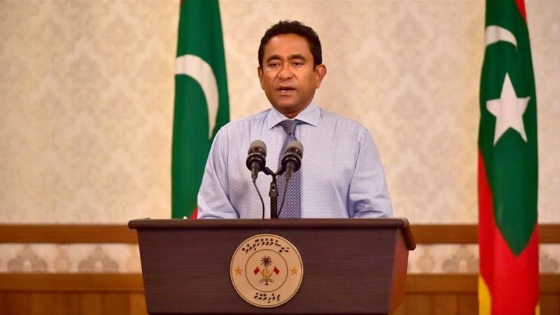 Maldives' president has long been dogged by allegations of corruption [Handout/Maldives president's office]