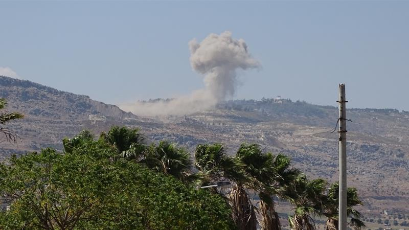 Russian fighter jets and Syrian barrel bombs pound Idlib province