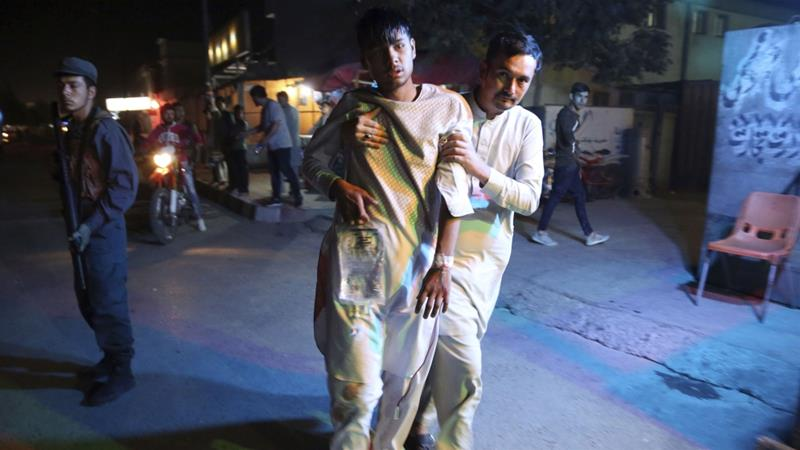 First explosion was triggered by a suicide bomber and was followed by a car bomb shortly after [Rahmat Gul/AP]