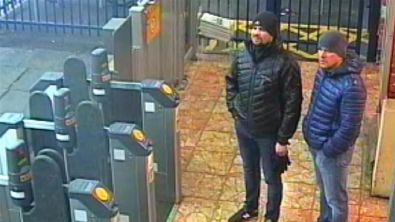 Two Russian nationals named as suspects in Salisbury Novichok poisoning