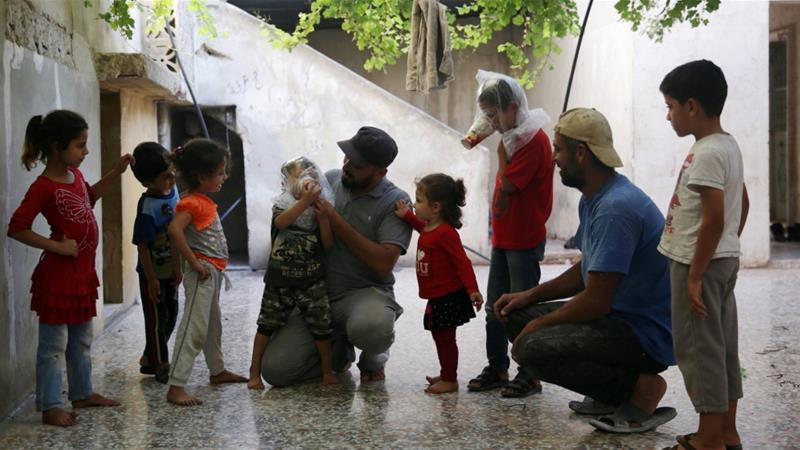As Idlib offensive looms, residents fear chemical attacks