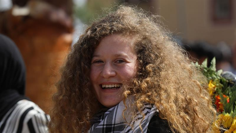 Tamimi was jailed after a video of her pushing and hitting Israeli soldiers went viral [Alaa Badarneh/EPA-EFE]