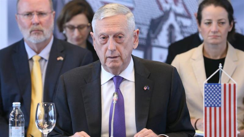 James Mattis held talks with Crown Prince Mohammed bin Zayed late on Friday [Reuters]