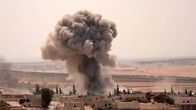 Syrian forces have stepped up bombardment of the densely populated province [Reuters]
