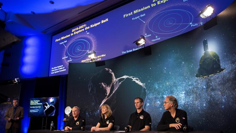 NASA rings in new year with farthest spacecraft flyby