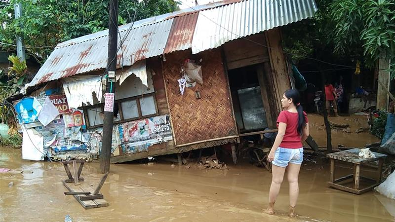 Nearly 25,000 people were displaced by the landslides and floods in 13 provinces [Francis Tanala/DPWH/AFP]