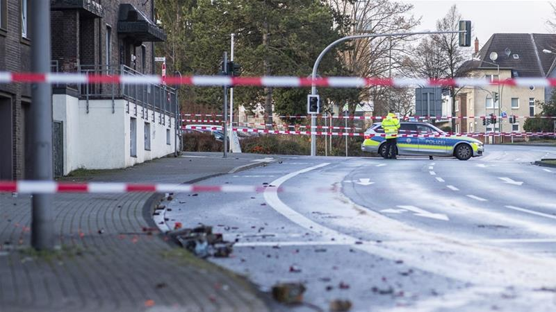 Police and prosecutors said they suspected the attack was deliberate and 'linked to the xenophobic views of the driver' [Marcel Kusch/DPA via AP Photo]