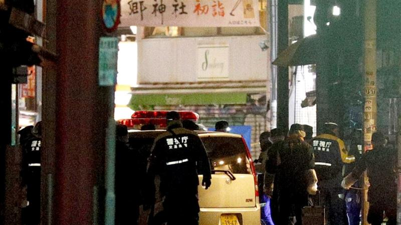 The incident took place in the popular tourist area of Harajuku