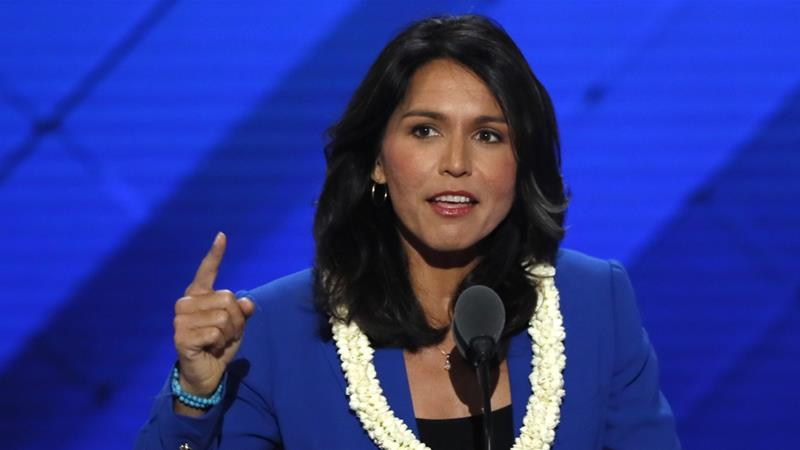 US Representative Tulsi Gabbard [File: Mike Segar/Reuters]