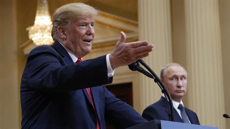 Trump defended Russia from accusations that it interfered in the 2016 elections in July, 2018 [File: Pablo Martinez Monsivais/AP]
