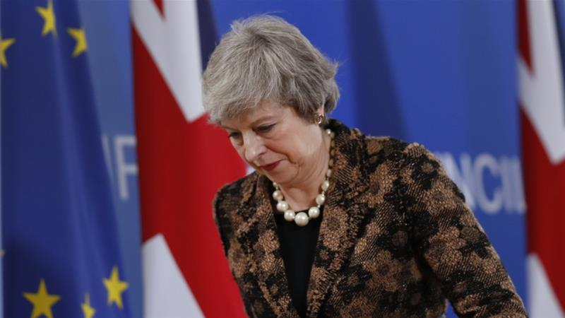 May has failed to find a deal the British parliament will approve [File: Alastair Grant/AP]