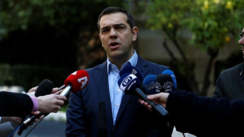 Greek defenсe minister resigns, PM Tsipras calls vote of confidence in govt