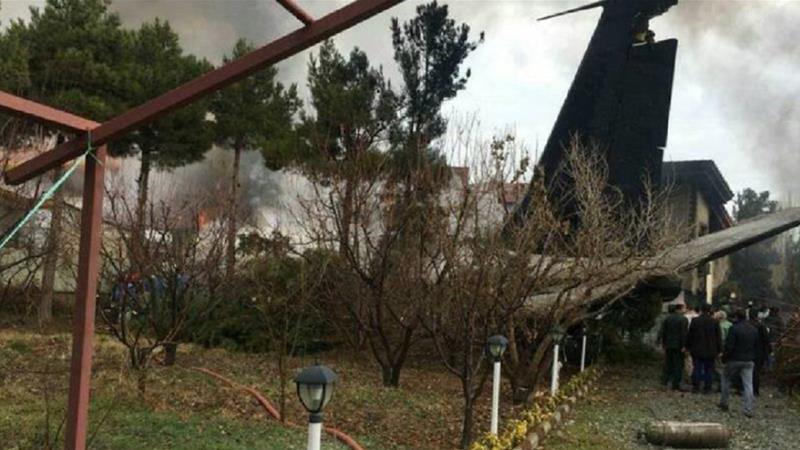 Cargo plane with at least nine on board crashes in Iran