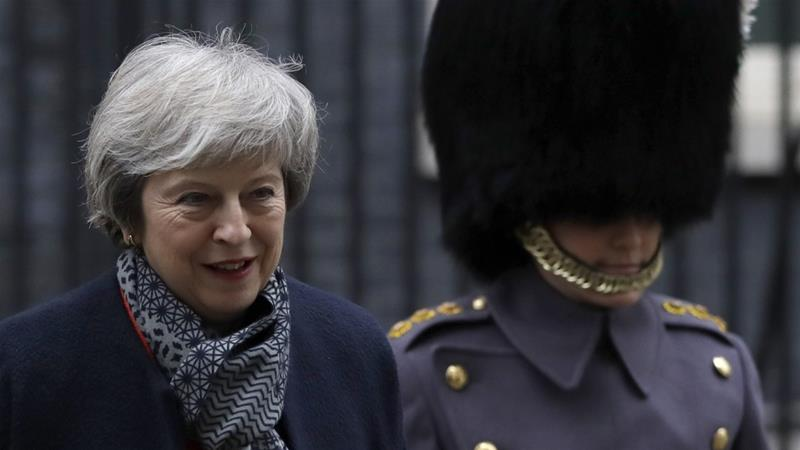May delayed an earlier vote on her deal after it faced certain defeat [Kirsty Wigglesworth/AP]
