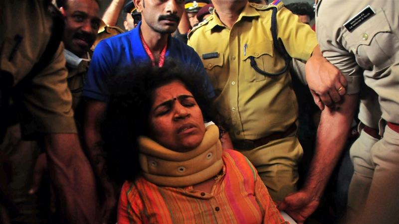 Kanaka Durga, a civil servant, suffered injuries to her head and had to be hospitalised, police said [File: Reuters]