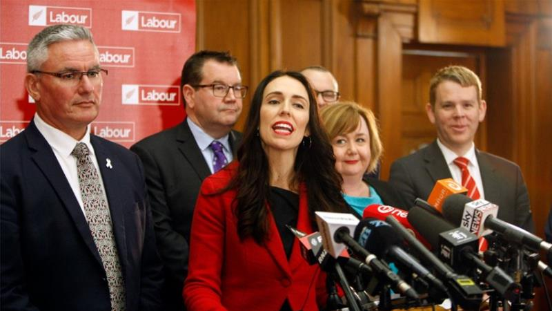 The strike spotlights the difficulties Prime Minister Jacinda Ardern's government faces in delivering on its promise to pour money into social services [File: Nick Perry/AP Photo]
