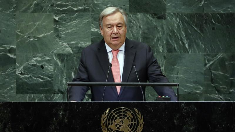 Guterres said the report contained 'sobering statistics' [File: Richard Drew/AP Photo]