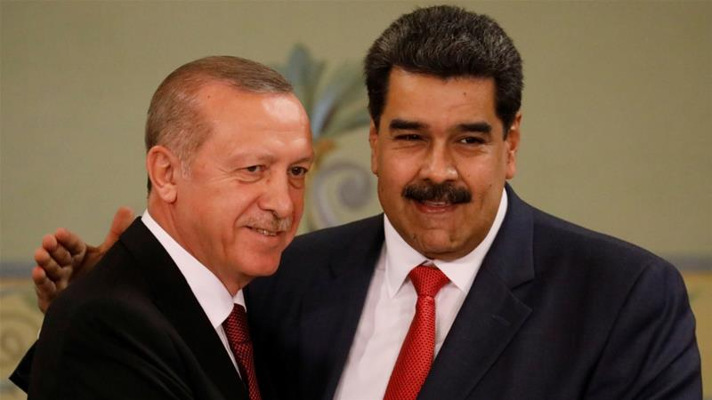 The personal relationship between Erdogan and Maduro seems to underpin the growing bilateral trade that encompasses finance, mining, energy, agriculture and defence [File: Manaure Quintero/Reuters]