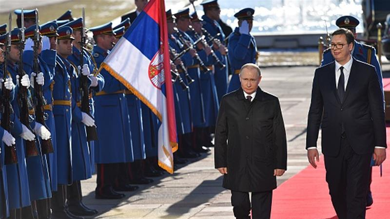 Putin Calls For Le Balkans On Visit To Ally Serbia