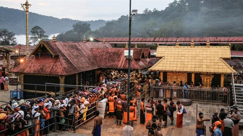The temple was briefly shut down for a 'purification ritual' following the announcement of the women entering [File: Sivaram V/Reuters]