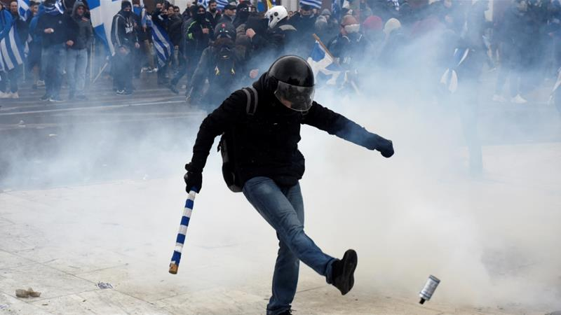 Greek Protesters Clash With Police Over Macedonia Name Deal