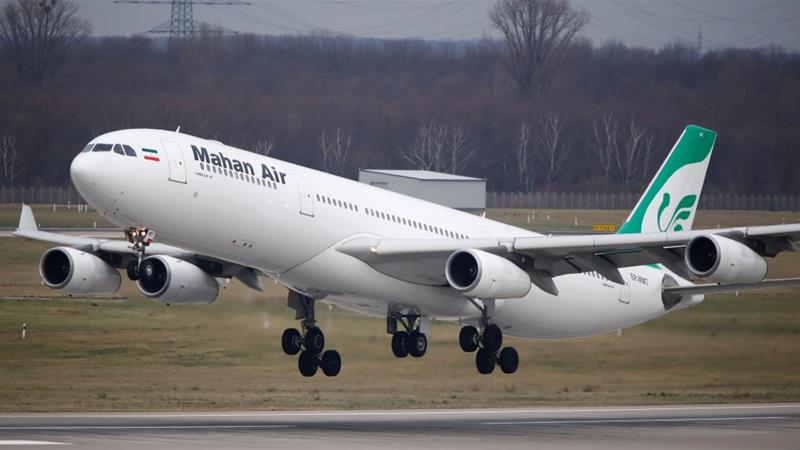 Mahan Air flies four services a week between Tehran and the German cities of Duesseldorf and Munich [Wolfgang Rattay/Reuters]