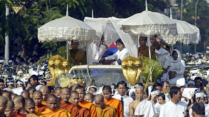Tens of thousands of people thronged the streets for Chea Vichea's funeral after he was assassinated on January 22, 2014. The killers have still not been found [File: Andy Eames/AP Photo]