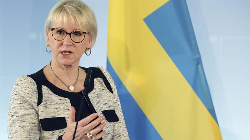 Sweden's top diplomat Margot Wallstrom said she hopes the talks will be a 'good preparation' for the summit [Wolfgang Kumm/AP]