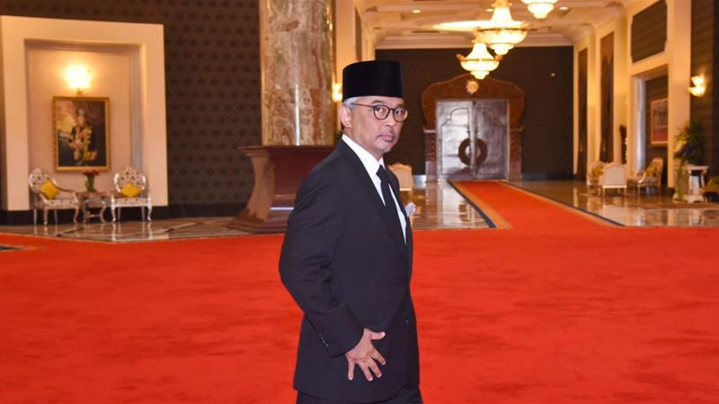 Sultan Abdullah will formally take over the throne on January 31 for a five-year term [Malaysia Information Ministry via AP]