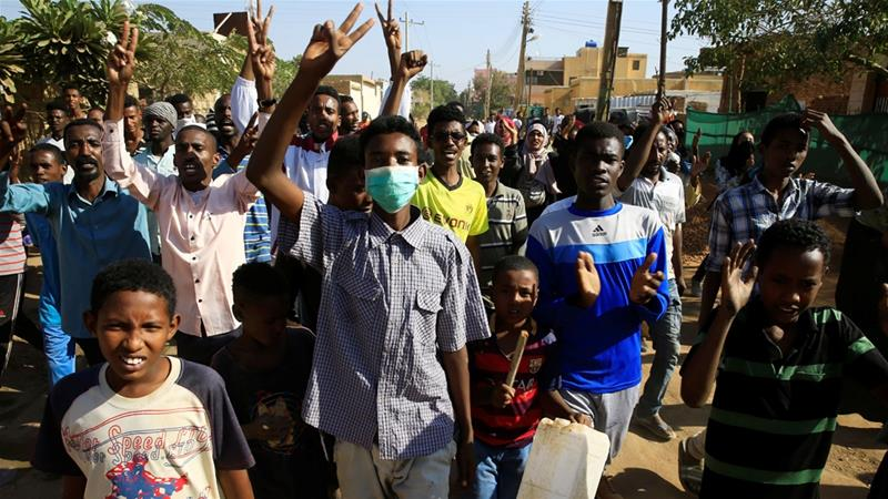 Anti-government protests started over price rises, and turned into demonstrations against President Bashir [Mohamed Nureldin Abdallah/Reuters]