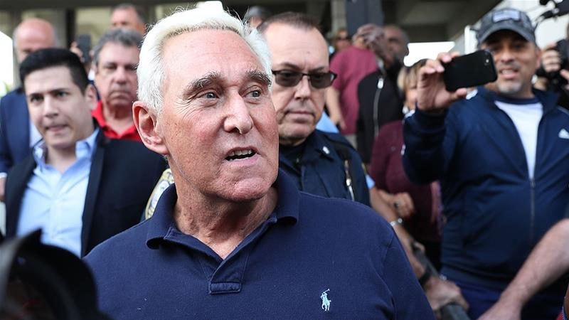Roger Stone leaves the Federal Courthouse on January 25, 2019 in Fort Lauderdale, Florida [File: Joe Raedle/Getty Images/AFP]