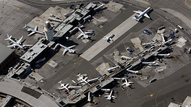 Planes are seen at LaGuardia Airport in the Queens borough of New York City [File: Mario Tama/Getty Images]