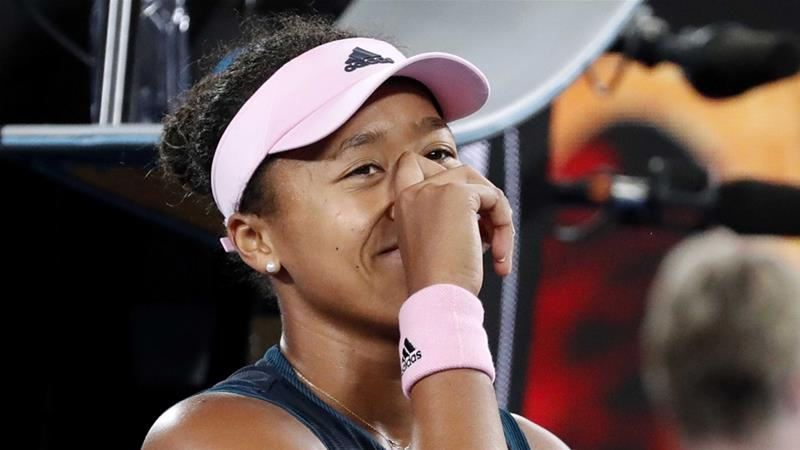 Osaka after winning her match against Czech Republic's Petra Kvitova [Kim Kyung-Hoon/Reuters]