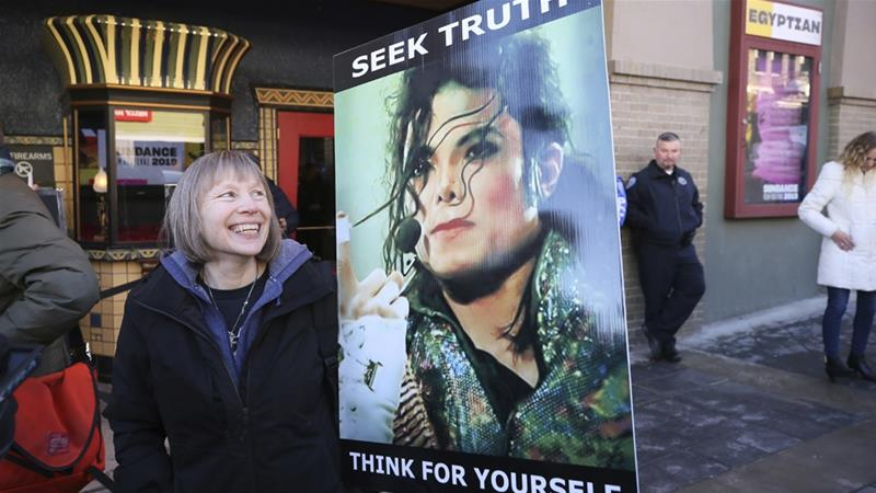 'Leaving Neverland' was shown at the Egyptian Theatre during the Sundance Film Festival in Utah [Danny Moloshok/AP]