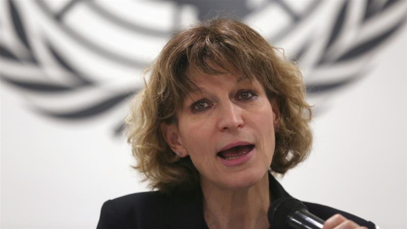 UN Special Rapporteur on extrajudicial, summary or arbitrary executions Agnes Callamard is tasked with heading an inquiry into the murder of Saudi journalist Jamal Khashoggi [File: Jose Cabezas/Reuters]
