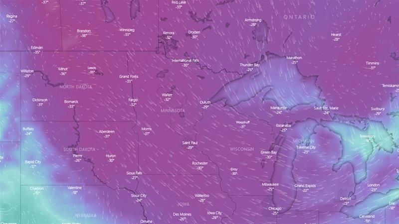 'Dangerously Cold': Polar Vortex to Engulf US Midwest, Great Lakes Region