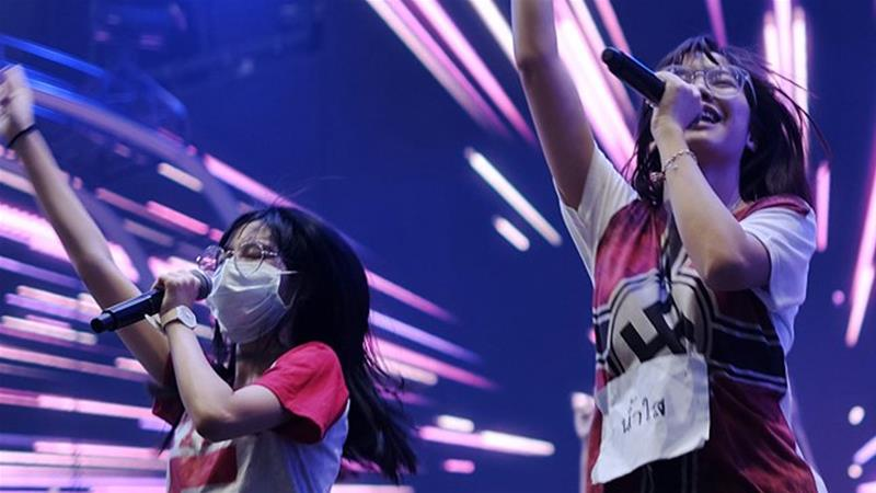 Pichayapa 'Namsai' Natha of Thai pop group BNK48 wears a Nazi-themed jersey at what was described as a 'televised rehearsal' [Screenshot/True ID TV]