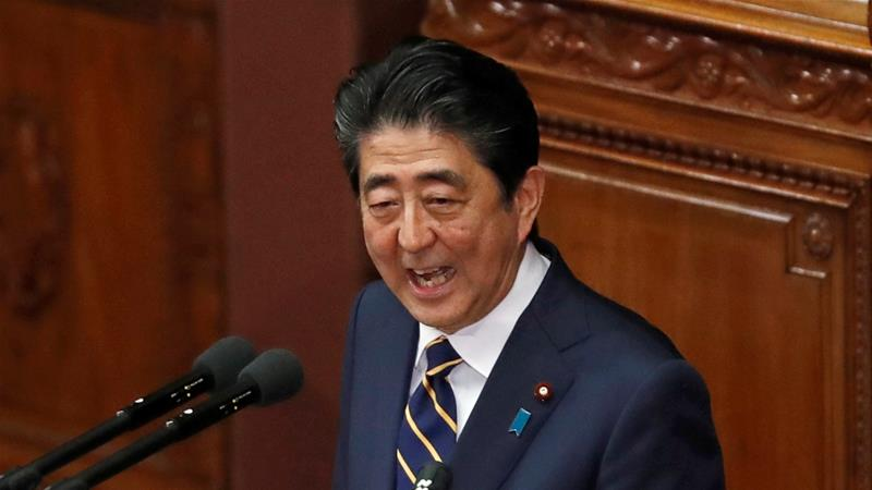 Shinzo Abe also vowed to push China-Japan ties 'to a new stage' [Issei Kato/Reuters]