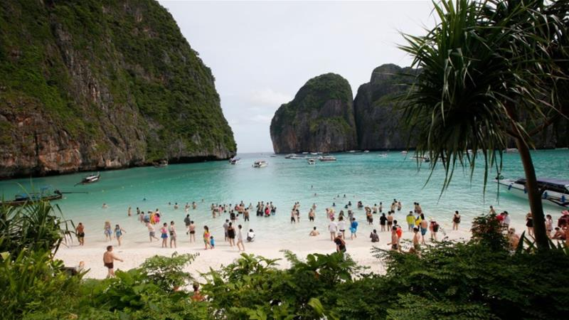 Pabuk is expected to dump heavy rain across the south, including tourist hotspots in the Andaman Sea such as Krabi [File: Sakchai Lalit/The Associated Press]