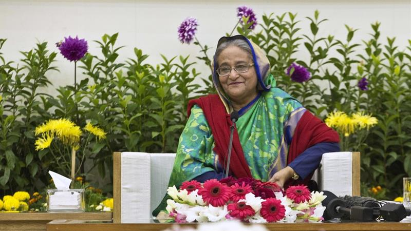 Hasina won a third straight term despite allegations of intimidation and the opposition disputing the outcome [Anupam Nath/AP Photo]