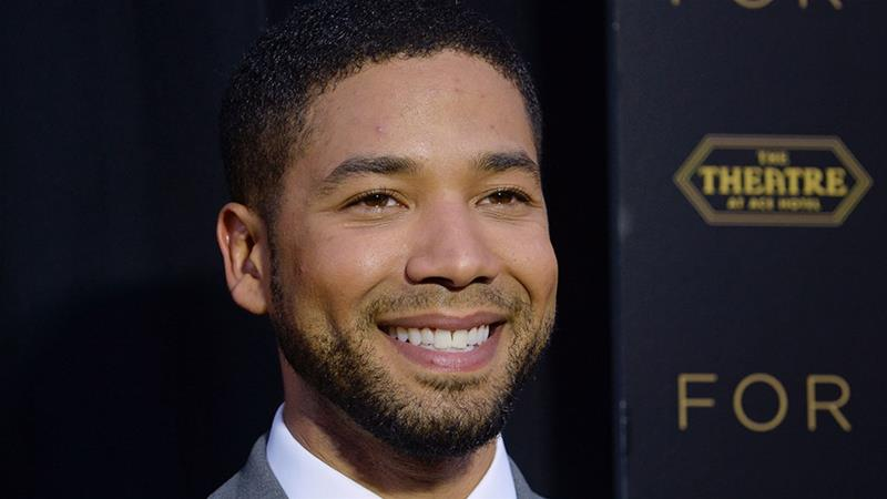 Cast member Jussie Smollett attends a screening of the television series 'Empire' in Los Angeles [File: Phil McCarten/Reuters]