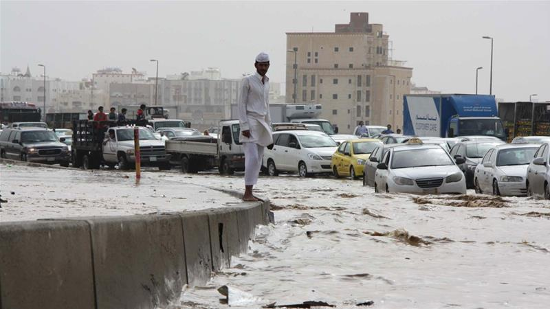 Saudi Arabia's civil defence authority said a total of 271 people had been rescued across the country since Sunday [STR/EPA]